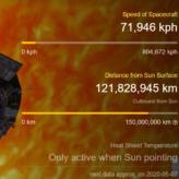 Parker Solar Probe, konum ve durum bilgisi